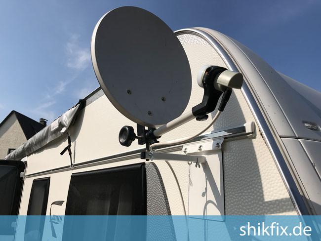 Wohnwagen Sat Antennen Halterung für Camping Caravan SHiK-FiX v2 40 SAT